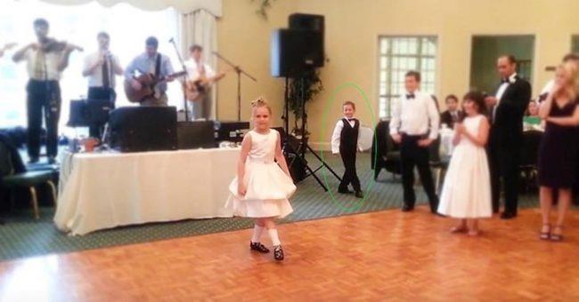 Little Girl Ready To Irish Dance At Wedding But Keep Your