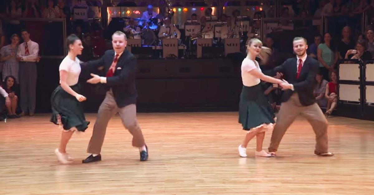 Two Couples Step On Dance Floor Stun The Crowd With